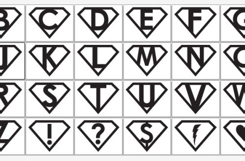 Superhero Symbols | BeccaBug.com