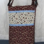 Wheechair Bag - Brown with Cream Accents