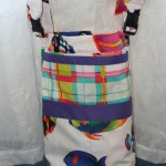 Wheelchair Bag - Fish with Plaid Accents