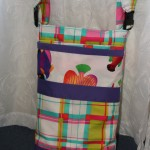 Wheelchair Bag - Plaid with Fish Accents